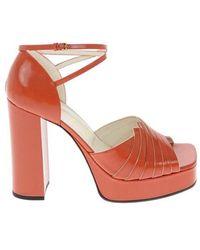 Gucci LEDER SANDALEN - Orange