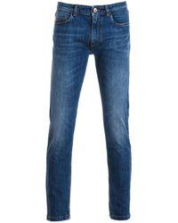 Harmont & Blaine Blue Cotton Jeans