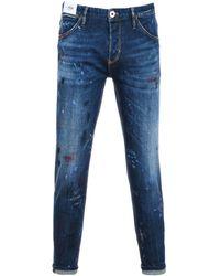 Pt05 Blue Cotton Jeans