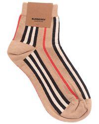 Burberry Cotton Socks - Natural