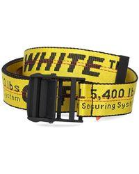 Off-White c/o Virgil Abloh Omrb012f21fab0011810 baumwolle gürtel - Gelb