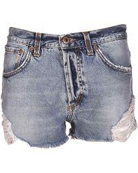 Dondup - Blue Cotton Shorts - Lyst