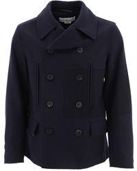 Golden Goose Blue Wool Coat