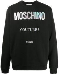 Moschino Strickpullover mit Logo - Schwarz