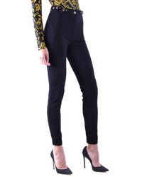 Versace Jeans Couture Viscose Trousers - Black