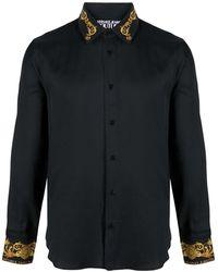 Versace Jeans Couture Hemd mit Barock-Details - Schwarz