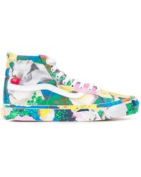 KENZO X Vans Stylised Floral Print Sk8-hi Sneakers - Green