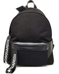 DSquared² Black Polyester Backpack