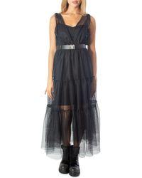 ViCOLO Black Polyester Dress