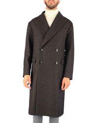Tagliatore Brown Wool Coat