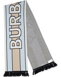 Burberry Multicolour Cashmere Scarf - Gray