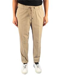 Peserico Beige Wool Trousers - Natural