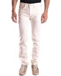 Evisu Men's Mcbi338009o White Cotton Jeans