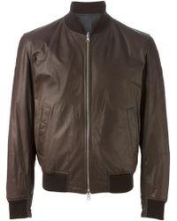 Brunello Cucinelli Brown Leather Outerwear Jacket