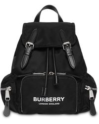 Burberry The Rucksack Small Backpack In Black Nylon