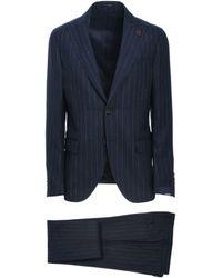 Lardini Blue Wool Suit