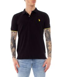 U.S. POLO ASSN. Black Cotton Polo Shirt