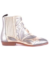 Santoni - Leather Ankle Boots - Lyst
