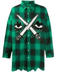 Haculla Embroidered Check Shirt - Green
