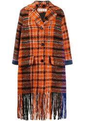 Marni Orange Wool Coat