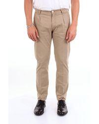 Michael Coal Brown Cotton Trousers