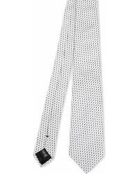 Emporio Armani White Silk Tie