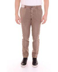 Incotex Grey Cotton Trousers - Gray