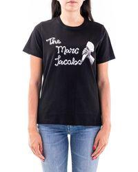 Marc Jacobs BAUMWOLLE T-SHIRT - Schwarz