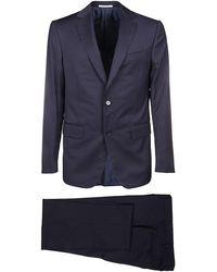 Pal Zileri Blue Wool Suit