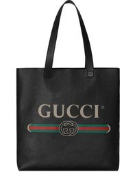 df2db70ba Gucci Lady Stirrup Top Handle Leather Bag in Black - Lyst