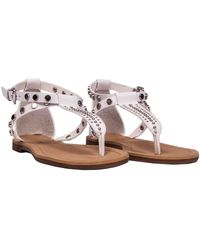 Kendall + Kylie Leather Sandals - White