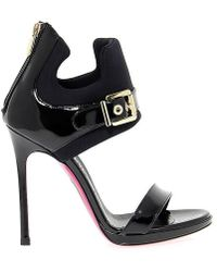 Luciano Padovan Black Patent Leather Heels