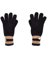 Guess Black Acrylic Gloves