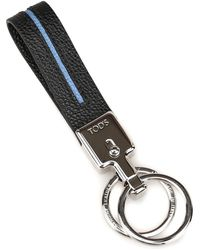 Tod's Black Leather Key Chain