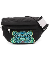 KENZO Black Synthetic Fibres Belt Bag