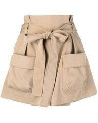 RED Valentino Waist-tie Cargo Shorts - Natural