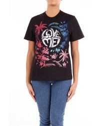 Alberta Ferretti Schwarzes t-shirt von