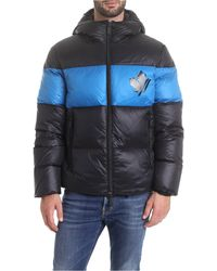 DSquared² Black Polyester Down Jacket