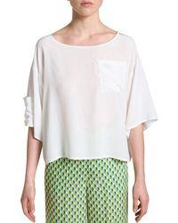 Maliparmi Malìparmi Silk T-shirt - White