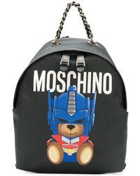 Moschino Luxury Fashion A763382101555C Schwarz Polyurethan Rucksack   Jahreszeit Permanent
