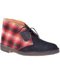 Clarks Leather Ankle Boots - Red