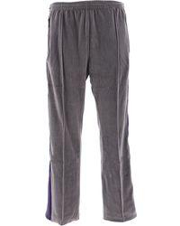 Needles Gray Cotton Pants