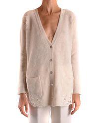 Ermanno Scervino Wool Cardigan - Natural