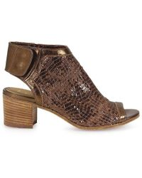 Lemarè - Bronze Leather Ankle Boots - Lyst