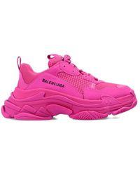 Balenciaga LEDER SNEAKERS - Pink