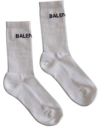 Balenciaga White Cotton Socks