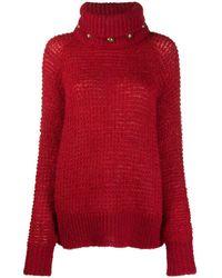 Balmain Pullover mit Rollkragen - Rot