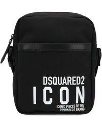 DSquared² Black Polyamide Messenger Bag