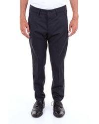 Michael Coal Blue Wool Trousers