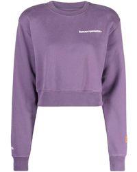 Heron Preston Cotton Sweatshirt - Purple